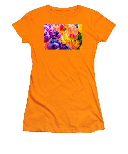 Women's T-Shirt (Junior Cut) featuring the photograph Tulips Enchanting 39 by Alexander Senin