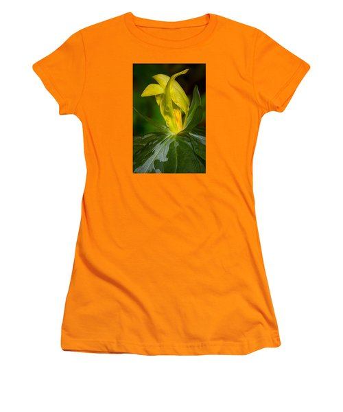 Yellow Trillium Women's T-Shirt (Junior Cut) by Tyson and Kathy Smith