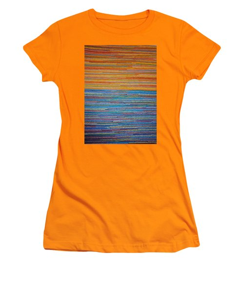Women's T-Shirt (Junior Cut) featuring the painting Identity by Kyung Hee Hogg