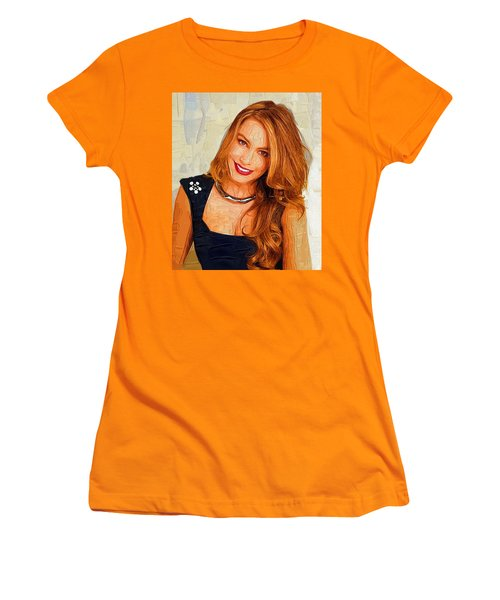 Actress Sofia Vergara  Women's T-Shirt (Junior Cut) by Best Actors