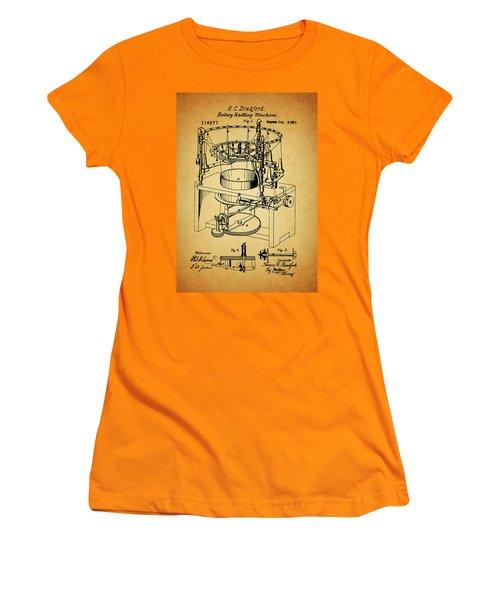 1871 Rotary Knitting Machine Women's T-Shirt (Junior Cut) by Dan Sproul