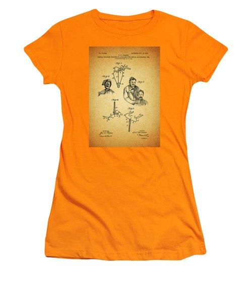 1904 Dental Forceps Patent Women's T-Shirt (Junior Cut) by Dan Sproul