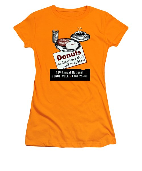 1940 Donut Poster Women's T-Shirt (Athletic Fit)
