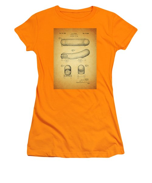 1954 Weiner Mobile Patent Women's T-Shirt (Junior Cut) by Dan Sproul