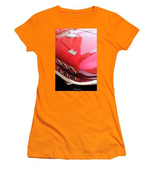 1966 Corvette Stingray Women's T-Shirt (Junior Cut) by Betty Northcutt