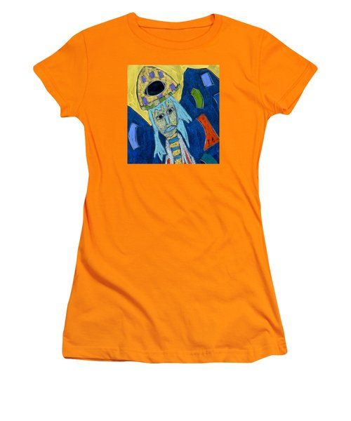 Women's T-Shirt (Athletic Fit) featuring the mixed media Archangel Raphael by Clarity Artists