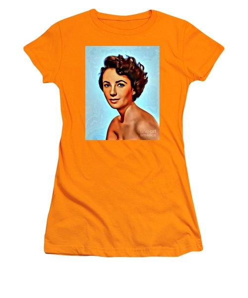 Elizabeth Taylor, Vintage Hollywood Legend Women's T-Shirt (Athletic Fit)