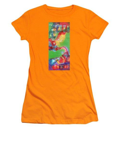 Green Harmony Women's T-Shirt (Junior Cut) by Sanjay Punekar