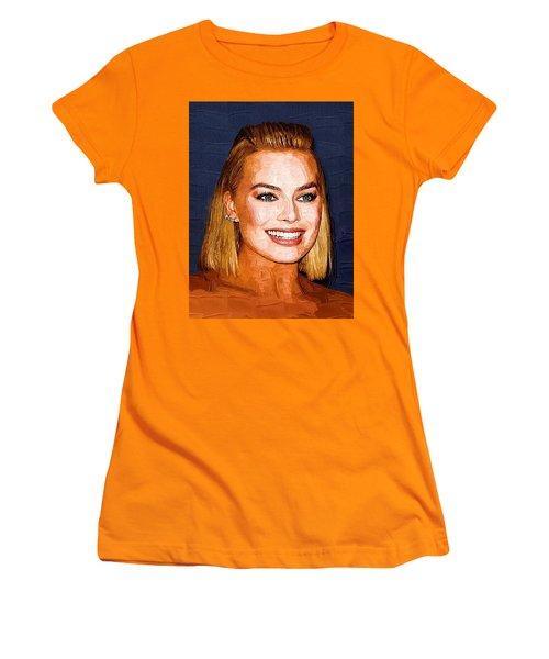 Margot Robbie Art Women's T-Shirt (Junior Cut) by Best Actors
