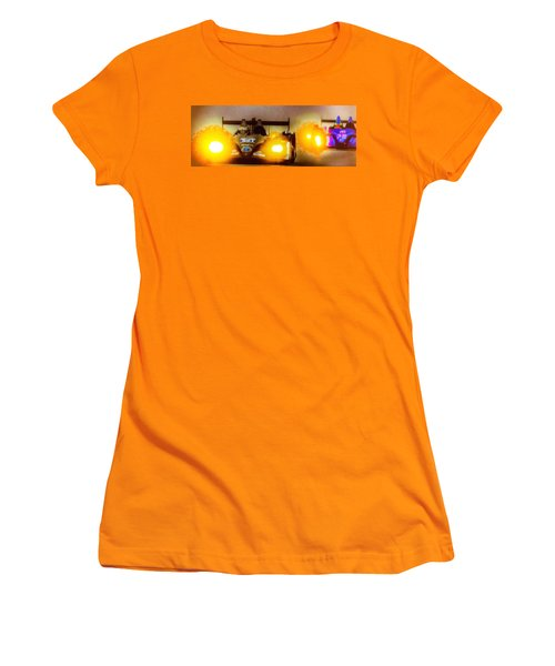 Women's T-Shirt (Junior Cut) featuring the photograph Masters Of Speed by Michael Nowotny