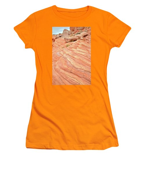 Women's T-Shirt (Junior Cut) featuring the photograph Sandstone Swirls In Valley Of Fire by Ray Mathis