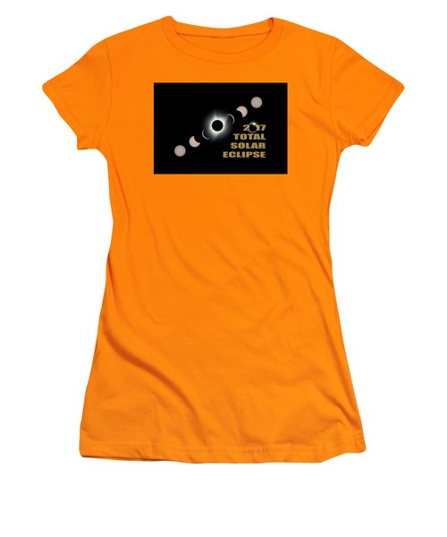 2017 Total Solar Eclipse Phases Women's T-Shirt (Athletic Fit)