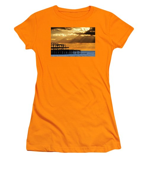 The West Pier In Brighton At Sunset Women's T-Shirt (Athletic Fit)