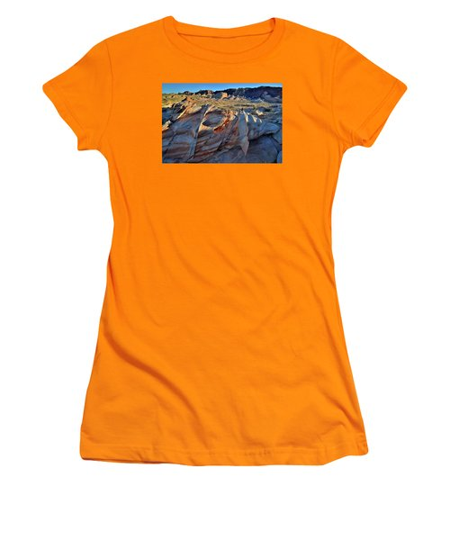 Women's T-Shirt (Junior Cut) featuring the photograph Colorful Sandstone In Valley Of Fire by Ray Mathis