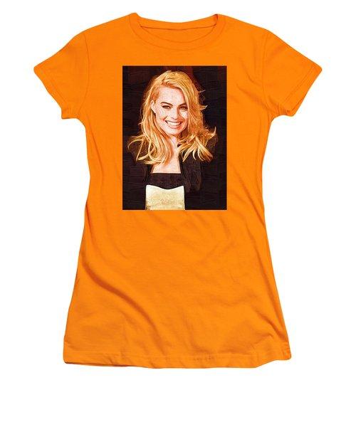 Margot Robbie Painting Women's T-Shirt (Junior Cut) by Best Actors