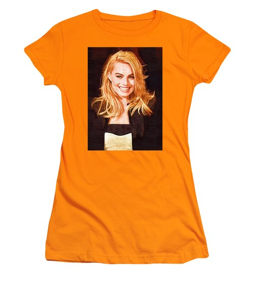 Margot Robbie Painting Women's T-Shirt (Athletic Fit)