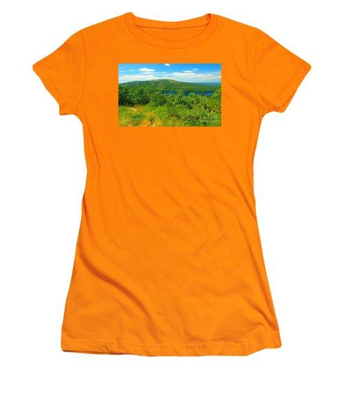 White Mountain's  Women's T-Shirt (Junior Cut) by Raymond Earley