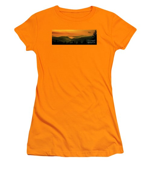 Women's T-Shirt (Junior Cut) featuring the photograph Allegheny Mountain Sunrise by Thomas R Fletcher