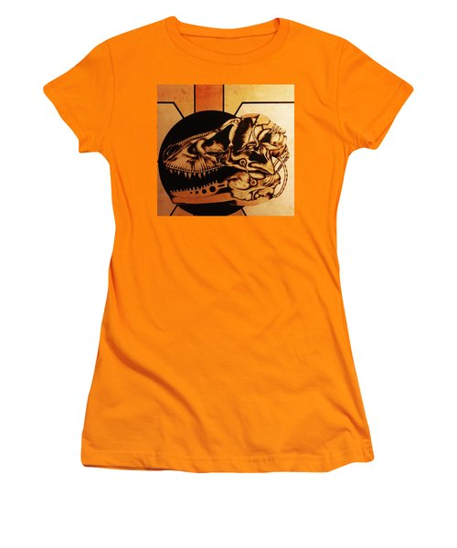 Women's T-Shirt (Junior Cut) featuring the pyrography Untitled by Jeff DOttavio