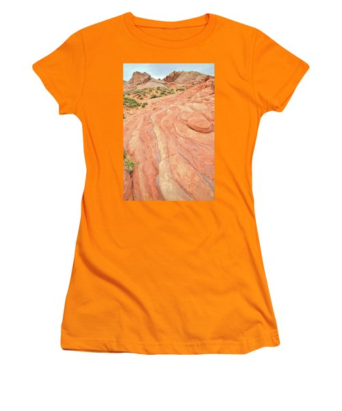 Women's T-Shirt (Junior Cut) featuring the photograph Wave Of Color In Valley Of Fire by Ray Mathis