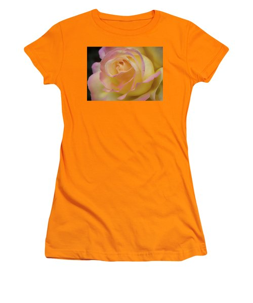 Rose Beauty Women's T-Shirt (Junior Cut) by Shirley Mitchell