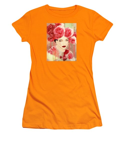 Women's T-Shirt (Junior Cut) featuring the digital art Rose by Lisa Noneman