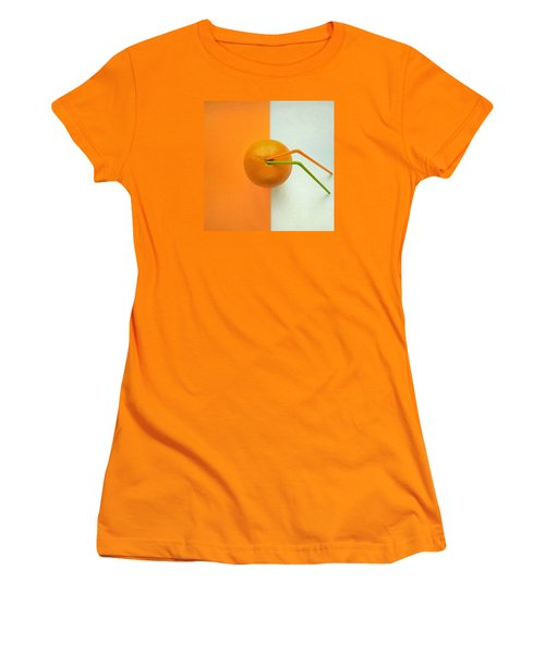 Orange Women's T-Shirt (Junior Cut) by Ann Foo