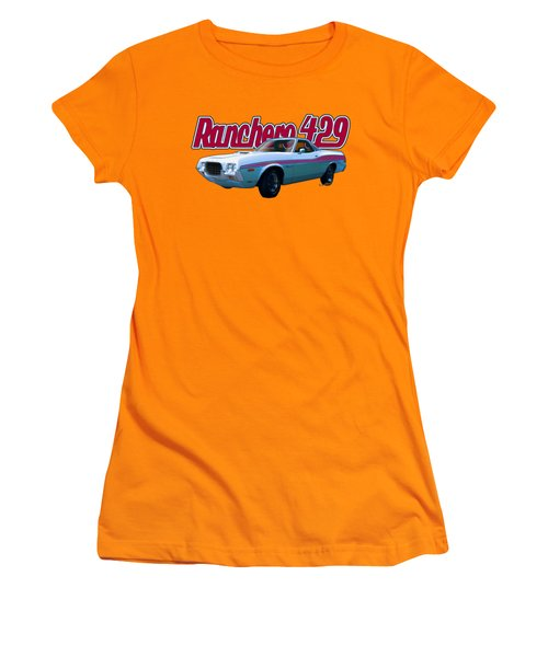 72 Ford Ranchero By The Sea Women's T-Shirt (Athletic Fit)