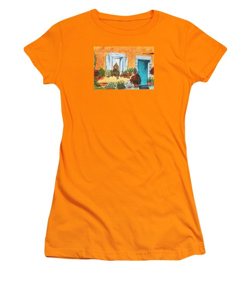 Women's T-Shirt (Junior Cut) featuring the painting A Cottage In The Village by Patricia Griffin Brett