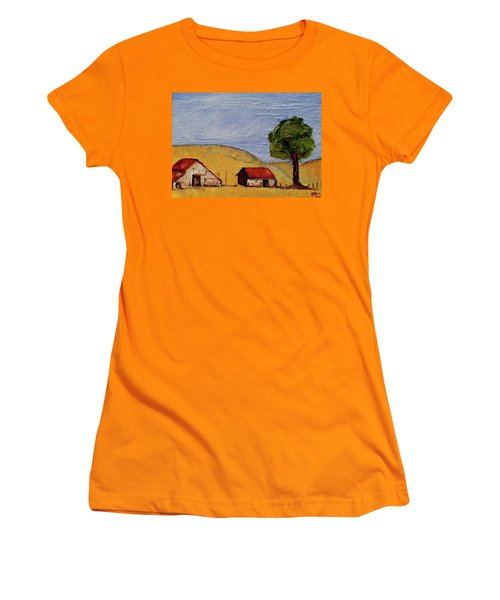 A Farm In California Winecountry Women's T-Shirt (Athletic Fit)