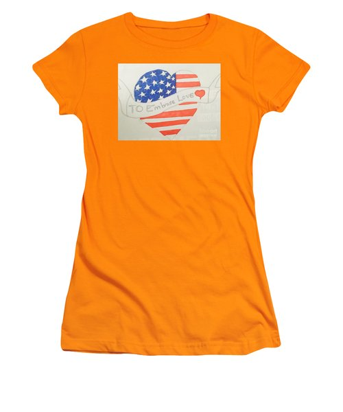 A Heart Of Love  Women's T-Shirt (Athletic Fit)