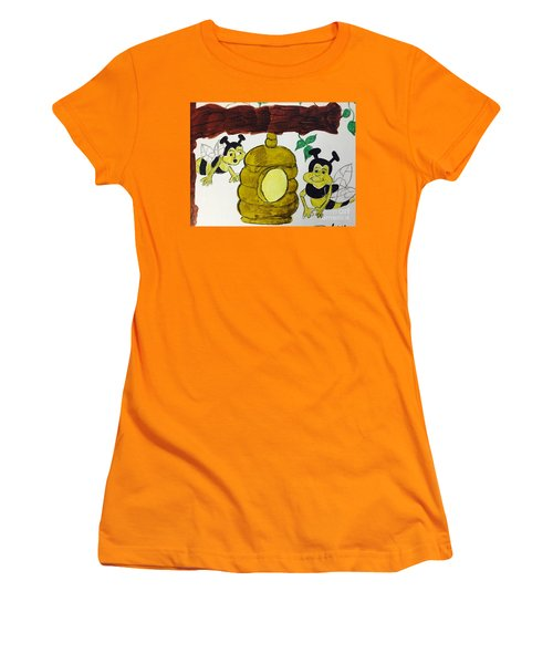 A Honey And The Bees Women's T-Shirt (Athletic Fit)