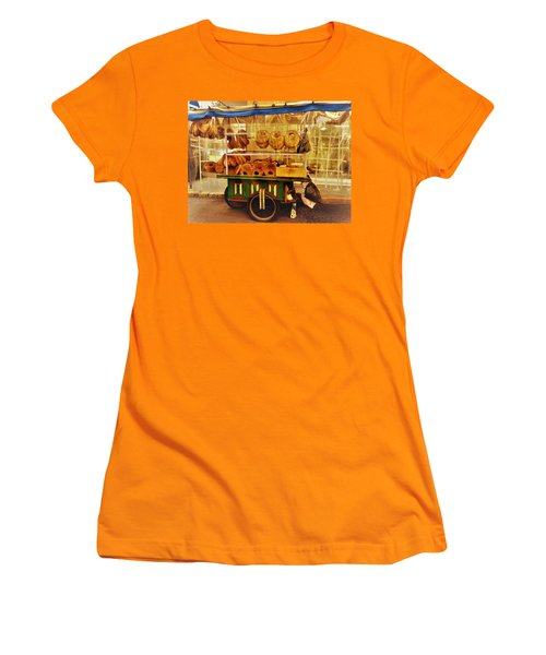 A Kaake Street Vendor In Beirut Women's T-Shirt (Junior Cut) by Funkpix Photo Hunter