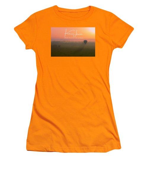 Women's T-Shirt (Junior Cut) featuring the mixed media A Mara Morn by Karen Lewis