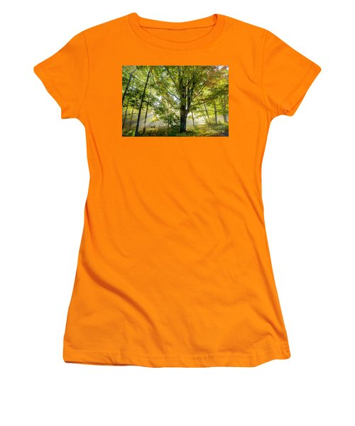A Misty Fall Morning Women's T-Shirt (Athletic Fit)