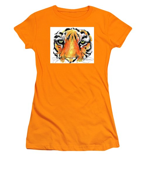 A Nice Tiger Women's T-Shirt (Athletic Fit)