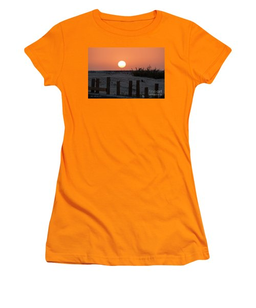 A November Sunset Scene Women's T-Shirt (Junior Cut) by Arik Baltinester