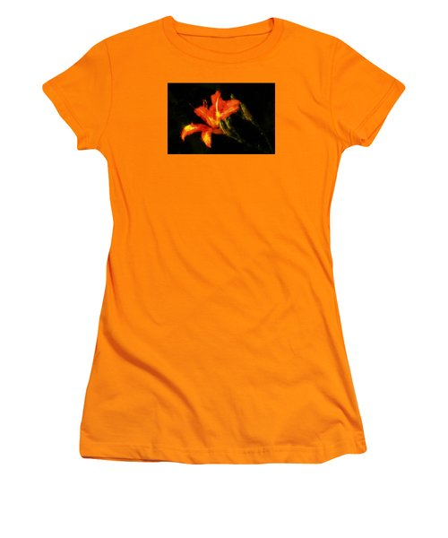 A Painted Lily Women's T-Shirt (Junior Cut) by Cameron Wood