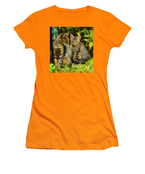 A Pair Of Feral Cats Women's T-Shirt (Athletic Fit)
