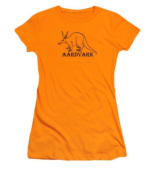 Aardvark Women's T-Shirt (Junior Cut) by Sarah Greenwell