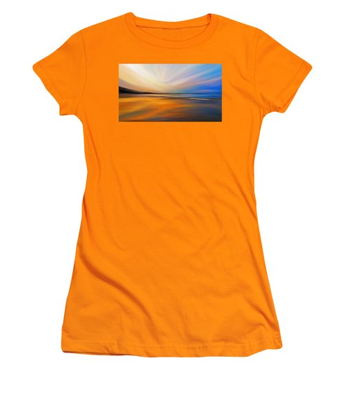 Women's T-Shirt (Junior Cut) featuring the digital art Abstract Energy by Anthony Fishburne