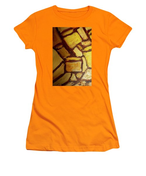 Women's T-Shirt (Junior Cut) featuring the painting Abstract Lamp #2 by Shea Holliman