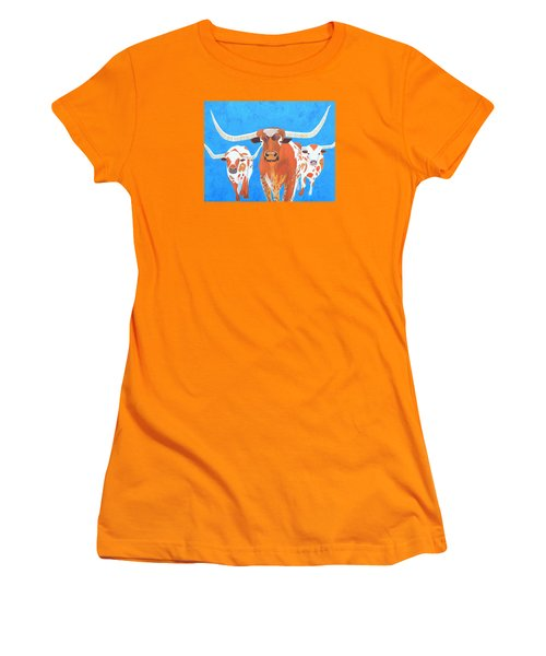 Abstract Mehndi Texas Longhorns Women's T-Shirt (Athletic Fit)