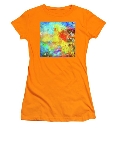 Abstract Seascape Painting With Vivid Colors Women's T-Shirt (Junior Cut) by Ayse Deniz