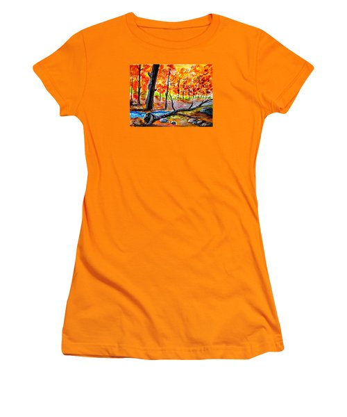 Fire In The Forest Women's T-Shirt (Athletic Fit)