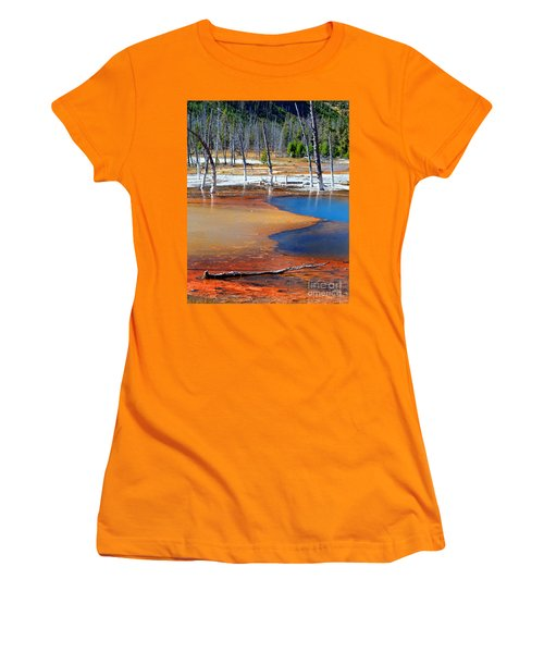 Acid Soup Yellowstone Women's T-Shirt (Junior Cut) by Diane E Berry