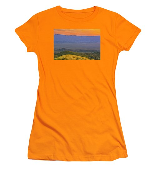 Across The Carrizo Plain At Sunset Women's T-Shirt (Junior Cut) by Marc Crumpler