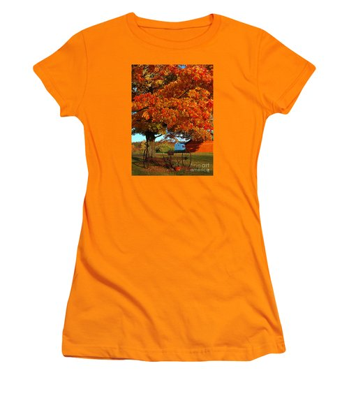 Adirondack Autumn Color Women's T-Shirt (Junior Cut) by Diane E Berry