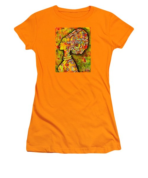 Women's T-Shirt (Junior Cut) featuring the painting African Queen by Julie Hoyle