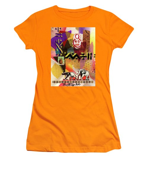 Afro Collage - O Women's T-Shirt (Junior Cut)
